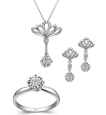 珠宝首饰3件套手绘